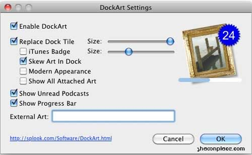 How to replace iTunes Dock to cover art ? | Shawn Tech Place