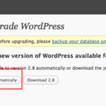 Upgraded to WordPress 2.8 Stable Version