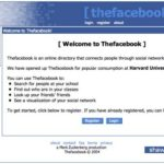 In the Beginning Facebook…