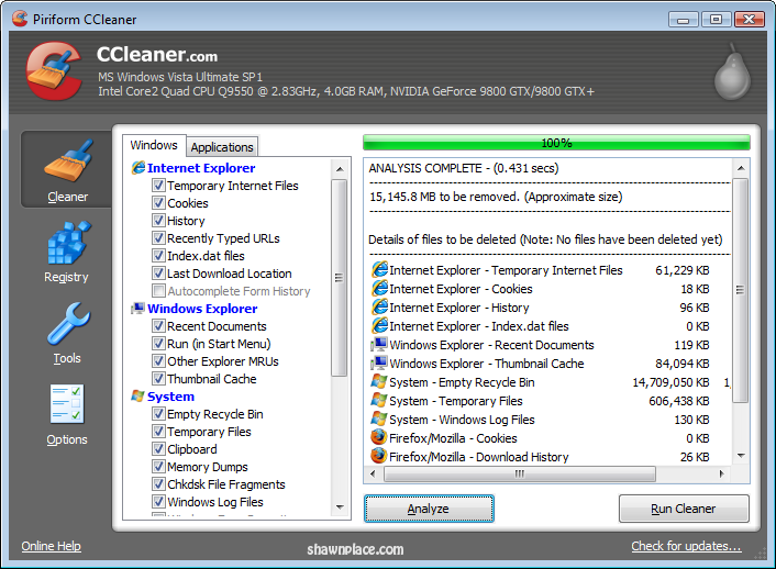 Your Portable PC cleaner 2018 [CCleaner] | Shawn Tech Place